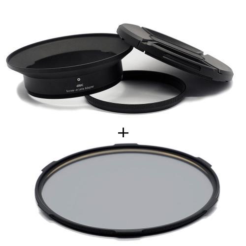 STC Screw-in Lens Adapter 濾鏡接環組+CPL 105mm 偏光鏡(for OLYMPUS 7-14mm用)