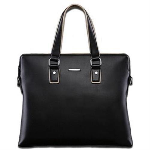 【米蘭精品】公事包真皮手提包極致簡約時尚首選2色73io5