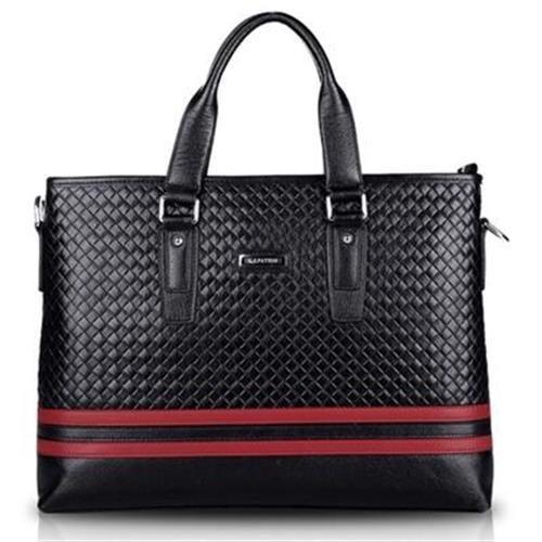 【米蘭精品】公事包真皮手提包時尚商務編織紋設計3款73io7