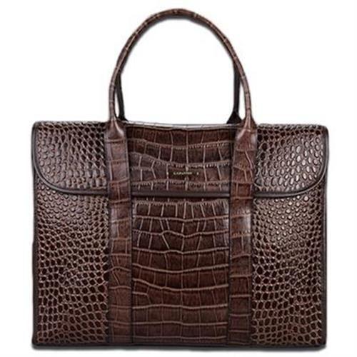 【米蘭精品】公事包真皮手提包高級時尚鱷魚紋設計2款73io20