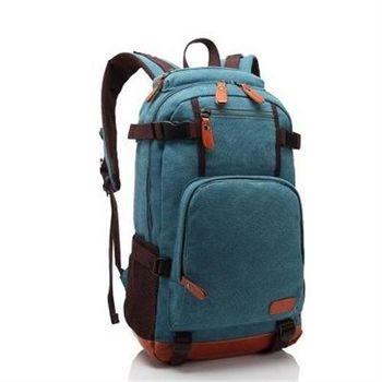 【米蘭精品】後背包帆布雙肩包簡單隨性韓版休閒3色73in18