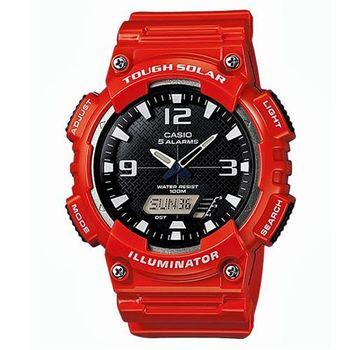 【CASIO】 新世代光動遊俠雙顯運動錶-紅 (AQ-S810WC-4A)