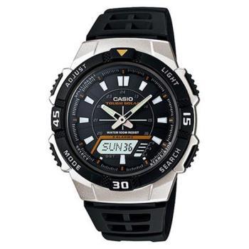 【CASIO】 陽光遊俠新城市雙顯電子錶-銀框 (AQ-S800W-1E)