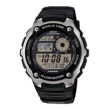 【CASIO】 城市玩家地圖數位運動錶 (AE-2100W-1A)