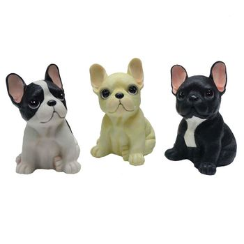 【摩達客寵物】超萌擬真鬥牛犬旺旺三入組創意狗狗寵物擺飾