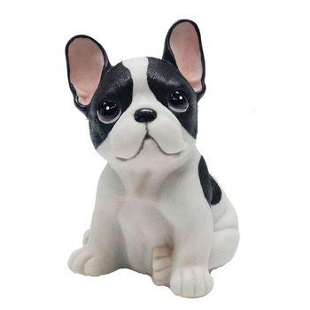 【摩達客寵物】超萌擬真黑白好旺鬥牛犬創意狗狗寵物擺飾(單入)
