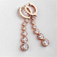 【米蘭精品】玫瑰金耳環鑲鑽純銀耳飾高貴典雅閃耀設計2色73gs210