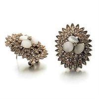 【米蘭精品】玫瑰金耳環鑲鑽純銀耳飾高貴迷人別緻奢華73gs232