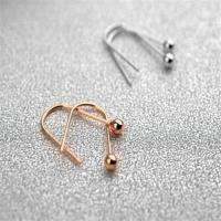 【米蘭精品】玫瑰金耳環純銀耳飾韓系風格簡約迷人2色73gs249