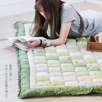 韓國加厚布藝地毯饅頭墊
