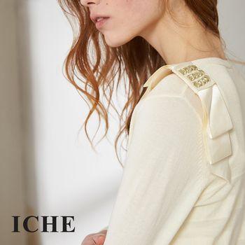 【ICHE 衣哲】百搭簡約條紋造型針織外套 兩色