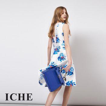 【ICHE 衣哲】立體提花蕾絲拼接造型禮服洋裝