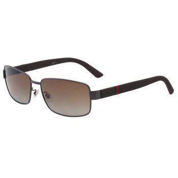 GUCCI-運動系列 太陽眼鏡(咖啡色)