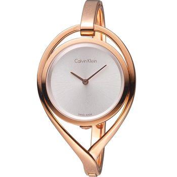 Calvin Klein  light 精巧系列 復刻回憶時尚腕錶 K6L2S616 玫瑰金色 (size  s)