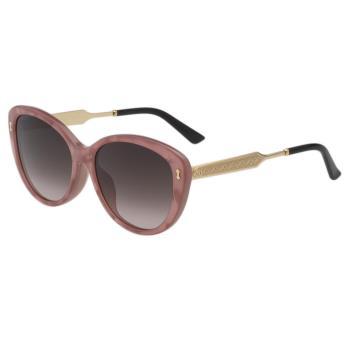 GUCCI太陽眼鏡 小貓眼 皇室風格紋路 (粉膚色)