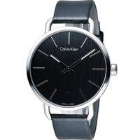 ck Calvin Klein K7B even 系列 頁岩自然風格時尚腕錶 K7B211C1 黑42mm