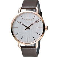 ck Calvin Klein K7B even 系列 頁岩自然風格時尚腕錶 K7B216G6 白x玫瑰金色42mm