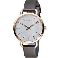 ck Calvin Klein K7B even 頁岩自然風格時尚腕錶 K7B236G6 白x玫瑰金色