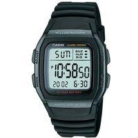 【CASIO】 樂活休閒運動數位錶-黑框X黑 (W-96H-1B)