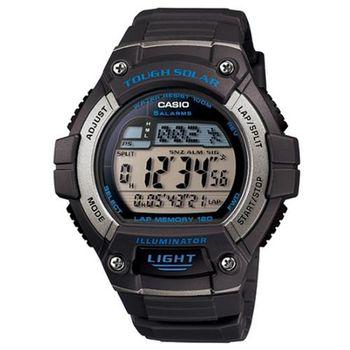 【CASIO】 陽光遊俠全方位電子運動錶-灰色 (W-S220-8A)