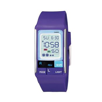 【CASIO】 新幾何積木方塊數字錶-紫 (LDF-52-6A)