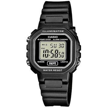【CASIO】 黑色炫風方形電子錶 (LA-20WH-1A)