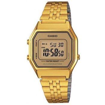 【CASIO】 經典復古數字型電子錶-金色 (LA-680WGA-9)