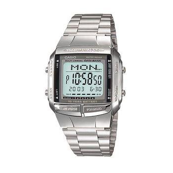 【CASIO】 數位城市光廊電子錶-銀 (DB-360-1A)