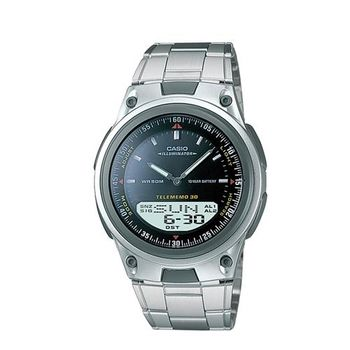 【CASIO】 都會時尚雙顯腕錶-黑面 (AW-80D-1A)