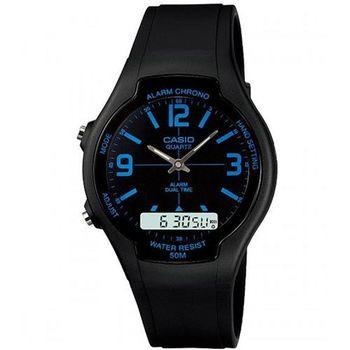 【CASIO】 酷炫經典指針雙顯錶 (AW-90H-2B)