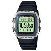 【CASIO】 樂活休閒運動數位錶-銀框X黑 (W-96H-1A)