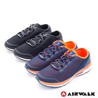 【美國 AIRWALK】輕勢力 雙層彈力網布透氣運動鞋-男-共二色