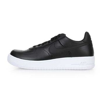 【NIKE】AIR FORCE 1 ULTRAFORCE LTHR 男復古鞋 黑白