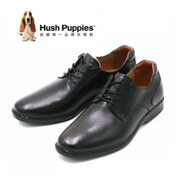 Hush Puppies 歐美綁帶紳士男皮鞋 男鞋-黑