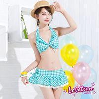 【LOVETEEN夏之戀】俏麗格子比基尼三件式泳衣A15712
