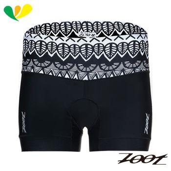 ZOOT 專業級肌能4吋鐵人褲(女)(圖紋黑) Z1706008