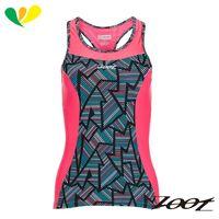 ZOOT 專業級美背式肌能鐵人上衣(女)(線彩紅) Z1706005