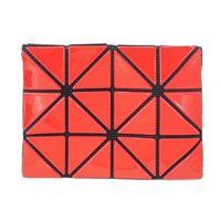 ISSEY MIYAKE 三宅一生 BAOBAO幾何方格亮面3x4名片夾(紅)