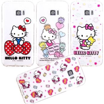 【Hello Kitty】Samsung Galaxy S7 edge 5.5吋 / G935F 彩繪空壓手機殼