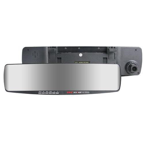 掃描者 K3500 後視鏡行車記錄器 GPS測速器 (送 8G Class10記憶卡+免費基本安裝)