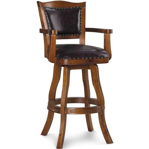 【椅吧】復古英式古典質感實木吧台椅