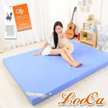 《贈枕》LooCa 抗菌防蹣防水11cm彈力記憶床墊(單人3尺)