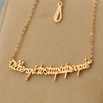 【米蘭精品】玫瑰金項鍊純銀吊墜英文字母流行71x147