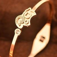 【米蘭精品】玫瑰金純銀手環鑲鑽手鍊招財進寶小羊精選71ap31