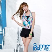 【SUMMERLOVE夏之戀】大女連身褲二件式印花泳衣E16710