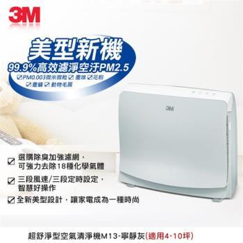 N95口罩等級濾淨原理★3M  淨呼吸空氣清淨機-超舒淨型FA-M13(4-10坪)