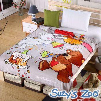 【Suzy`s Zoo】生日快乐 法兰绒双面温暖云毯
