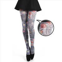 【摩達客】英國進口義大利製Pamela Mann丹寧牛仔擬真圖紋彈性褲襪