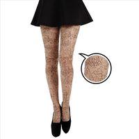 【摩達客】英國進口義大利製Pamela Mann摩天都市刺青效果圖紋彈性褲襪