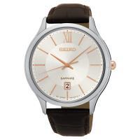 SEIKO 城市美學時尚腕錶-咖啡/42mm 7N42-0GG0K(SGEH55P1)